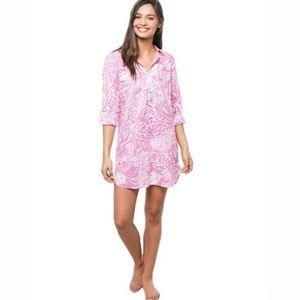 Lilly Pulitzer Get Spotted Captiva Pink Tunic